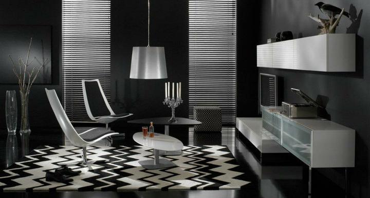 Moderné obývacie izby a obývacie steny - obývacia izba 18