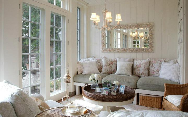 Nádherné interiéry-obývačka - romantika