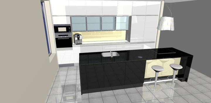 Vizualizácie kuchyne - rodinný dom 2012 - grafický návrh- rodinný dom 3-obr 2