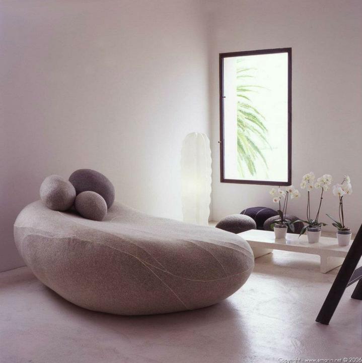 Aj na sedenie aj na hranie - leňoška z kameňov
