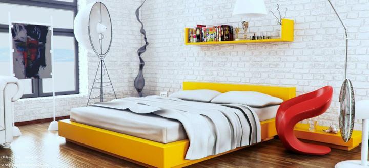 Prajem Vám sladké sny :-) - žlto, červeno biela zaujímavá kombinácia