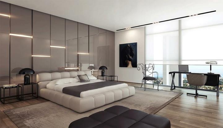 Prajem Vám sladké sny :-) - perfektné riešenie steny za posteľou, jej členenie a osvetlenie