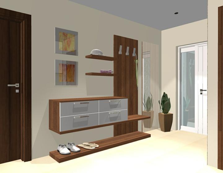 Vizualizácie interiér 2012 - rôzne verzie jednej chodby -návrh 4 - ktorú by ste si vybrali ?