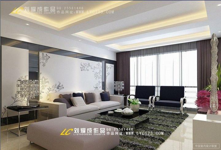Nádherné interiéry-obývačka - zaujímavé prevedenie steny za gaučom a stropu