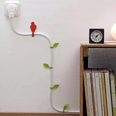 Návody-návodíky - typ ako si skrášliť káble čo vám doma trčia