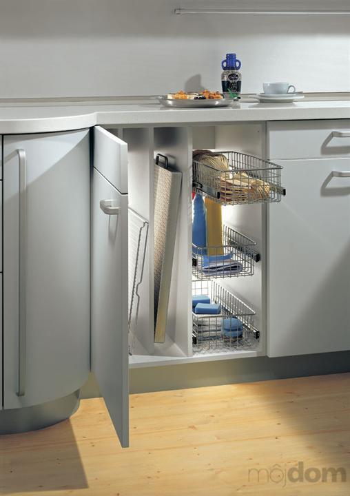 Vychytávky do kuchyne a interiéru - skrinka na čistiace prostriedky a dosky na krájanie alebo plech