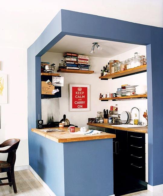 Vychytávky do kuchyne a interiéru - malá ale praktická mini kuchynka