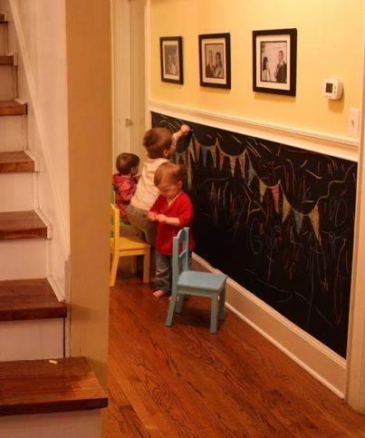 Vychytávky do kuchyne a interiéru - nápad ako využiť stenu a zároveň aj zabaviť detičky
