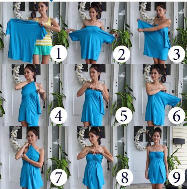 Návody-návodíky - krátke šaty z trička