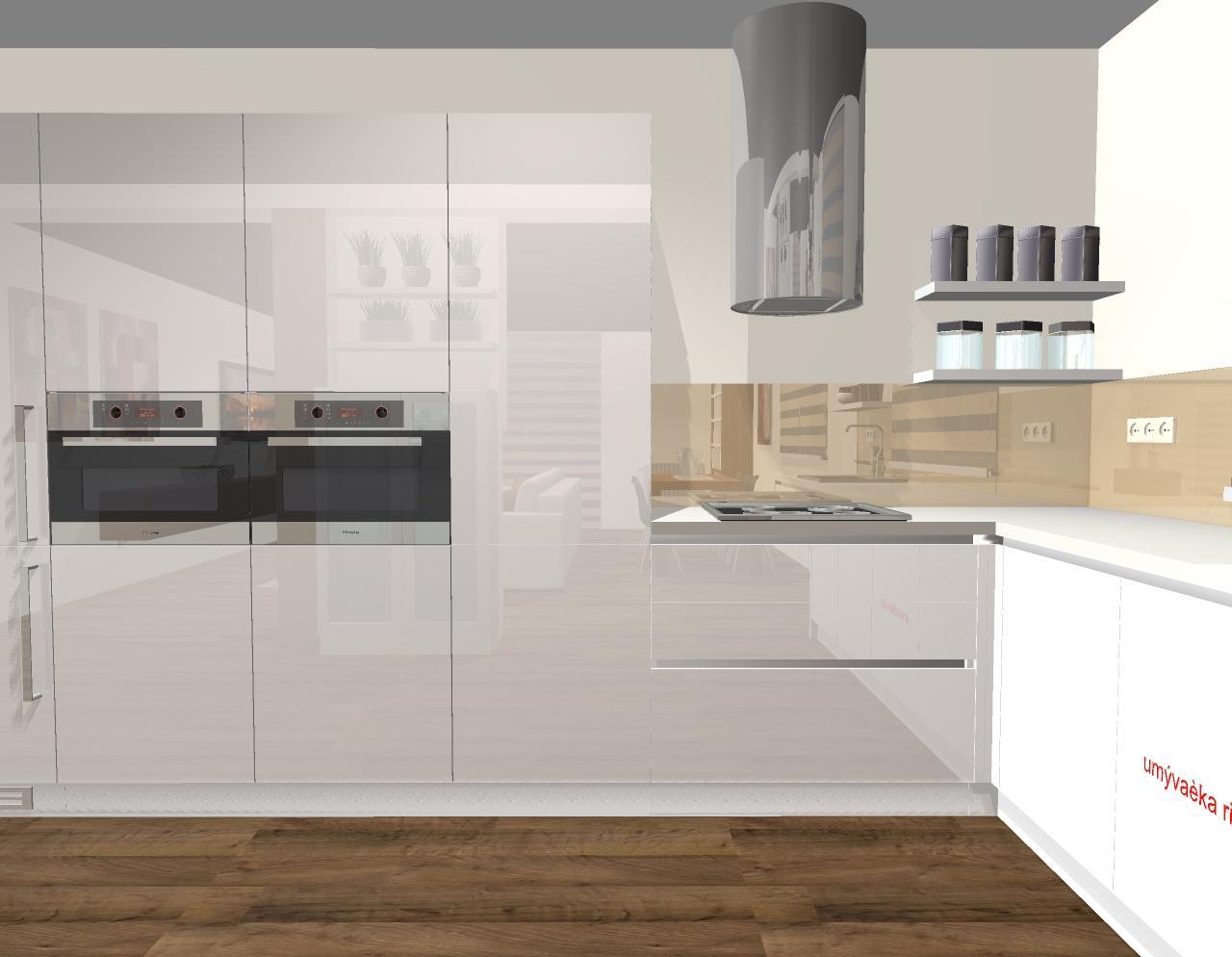 Grafické návrhy kuchyňa + obývačka - grafický návrh kuchyne v modernom štýle - verzia 1 - obr. 3