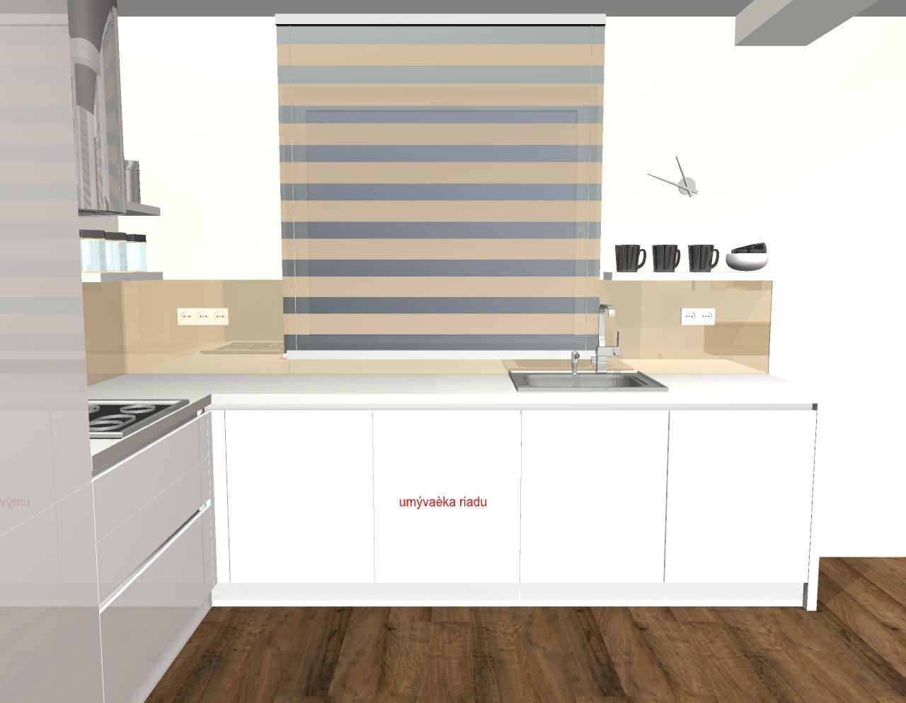Grafické návrhy kuchyňa + obývačka - grafický návrh kuchyne v modernom štýle - verzia 1 - obr. 4