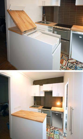Vychytávky do kuchyne a interiéru - kam s práčkou ? nechajte sa inšpirovať :-)