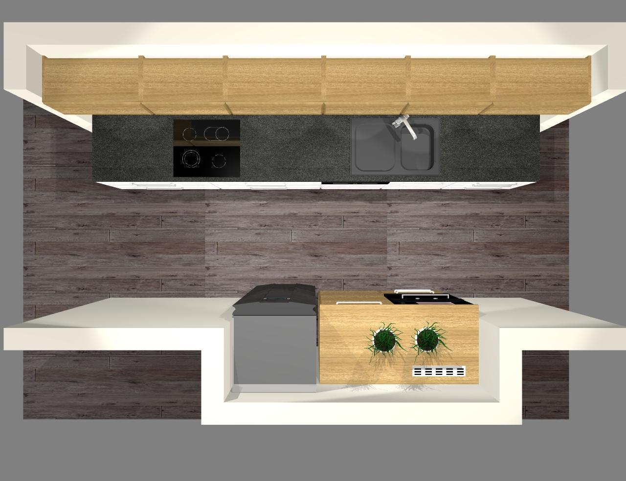 Grafické návrhy kuchynských liniek 2016 - Grafický návrh kuchynskej linky do rodinného domu - obr.9