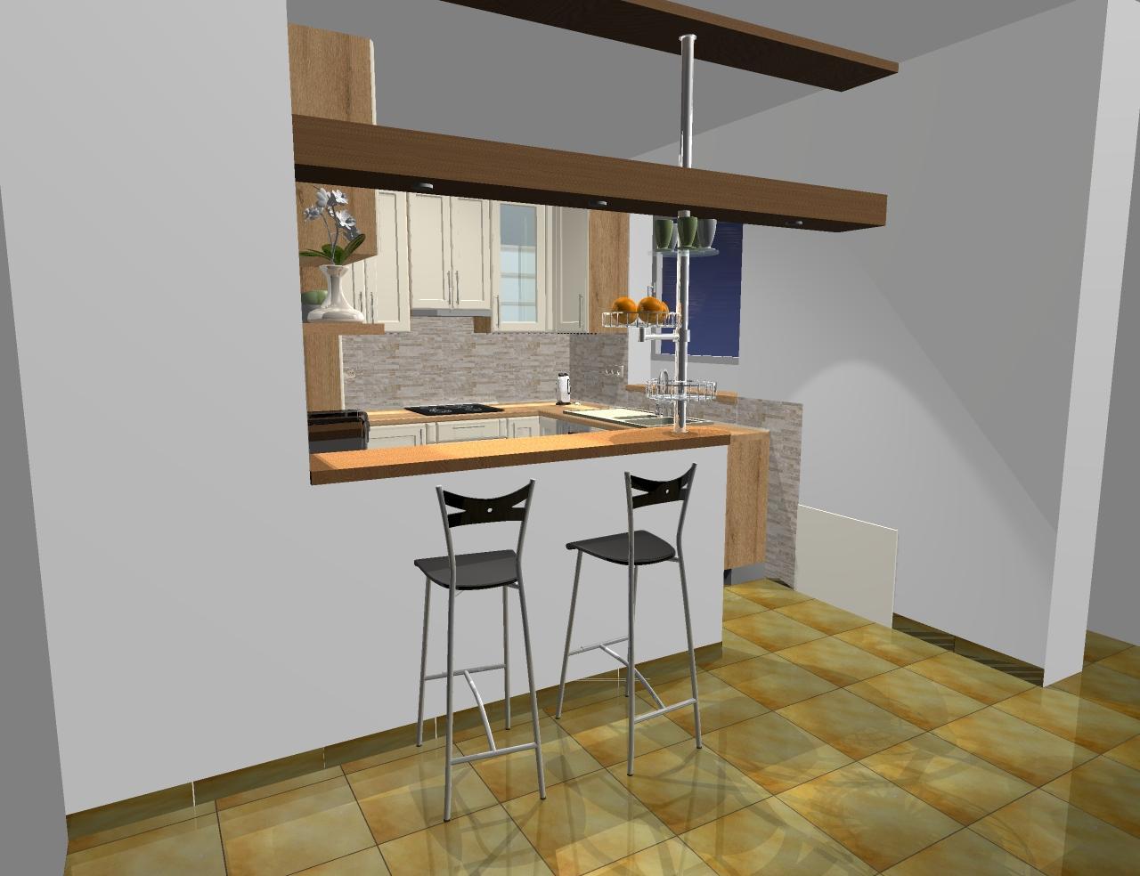 Grafické návrhy kuchynských liniek 2016 - Grafický návrh kuchynskej linky do rodinného domu - verzia 1- obr.3