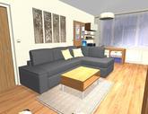 Grafický návrh obývačky v paneláku - verzia 1 - obr.4
