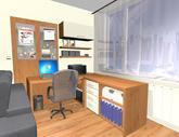 Grafický návrh obývačky v paneláku - verzia 1 - obr.5