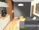 Grafický návrh obývačky v paneláku - verzia 1 - obr.9