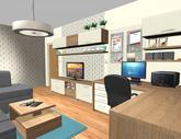 Grafický návrh obývačky v paneláku - verzia 2 - obr.1