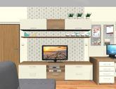 Grafický návrh obývačky v paneláku - verzia 2 - obr.2