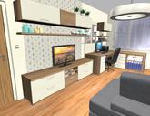 Grafický návrh obývačky v paneláku - verzia 2 - obr.4