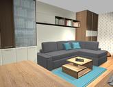 Grafický návrh obývačky v paneláku - verzia 2 - obr.7