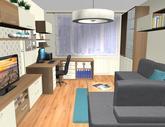 Grafický návrh obývačky v paneláku - verzia 2 - obr.11