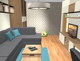 Grafický návrh obývačky v paneláku - verzia 2 - obr.12