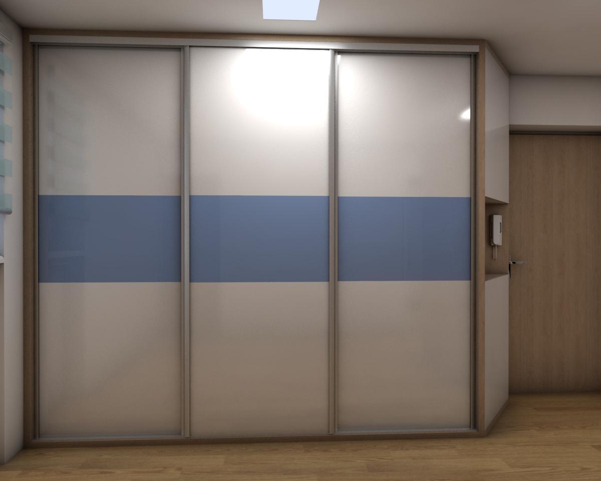 Grafické návrhy bytov - Zariadenie jednoizbového bytu Zvolen - chodba- obr.1