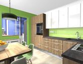 Grafický návrh kuchynskej linky do paneláku v BB - verzia 2- obr.2