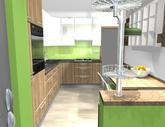 Grafický návrh kuchynskej linky do paneláku v BB - verzia 2- obr.3