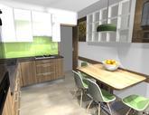 Grafický návrh kuchynskej linky do paneláku v BB - verzia 2- obr.6
