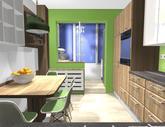 Grafický návrh kuchynskej linky do paneláku v BB - verzia 2- obr.9