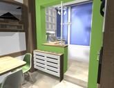 Grafický návrh kuchynskej linky do paneláku v BB - verzia 2- obr.10