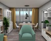 Grafický návrh obývačky v paneláku - obr.3