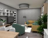 Grafický návrh obývačky v paneláku - obr.4