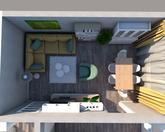 Grafický návrh obývačky v paneláku - obr.5
