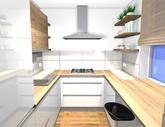 Návrh kuchynskej linky do paneláku v ZV - obr.4