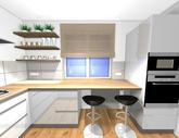 Návrh kuchynskej linky do paneláku v ZV - obr.6