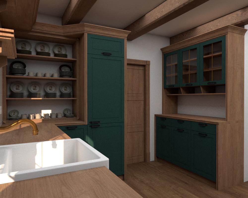 Rôzne verzie jednej kuchyne - Návrh vidieckej kuchyne - verzia 1 obr.3