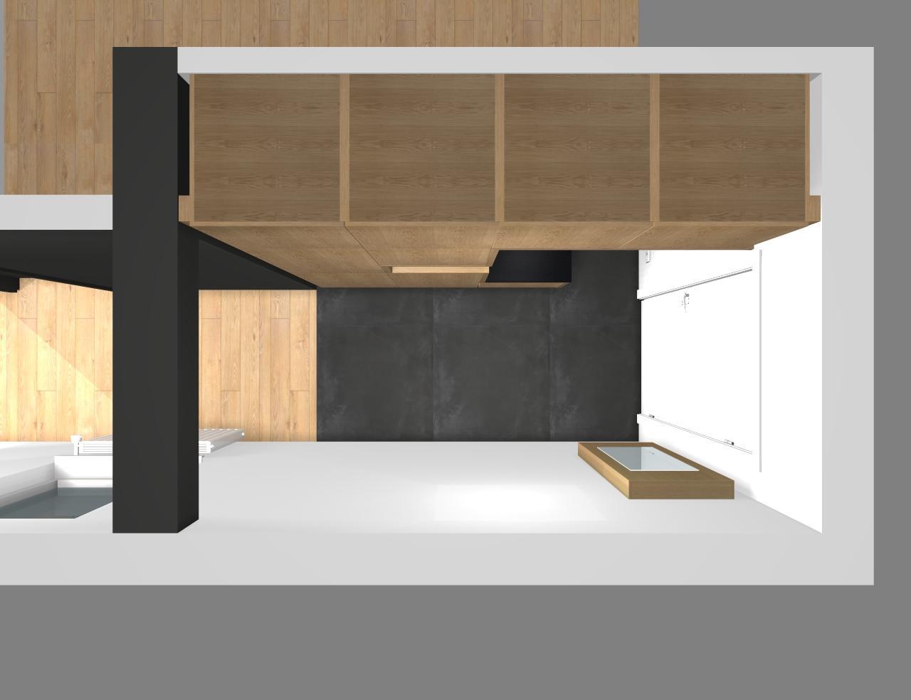 Grafické návrhy bytov - Zariadenie trojizbového bytu v BB - návrh vstupnej chodby - obr.3