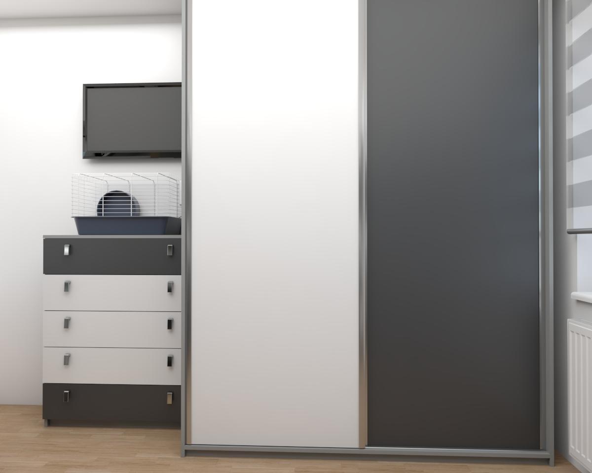 Grafické návrhy interiér 2018 - Grafický návrh študentskej izby v paneláku - obr.3