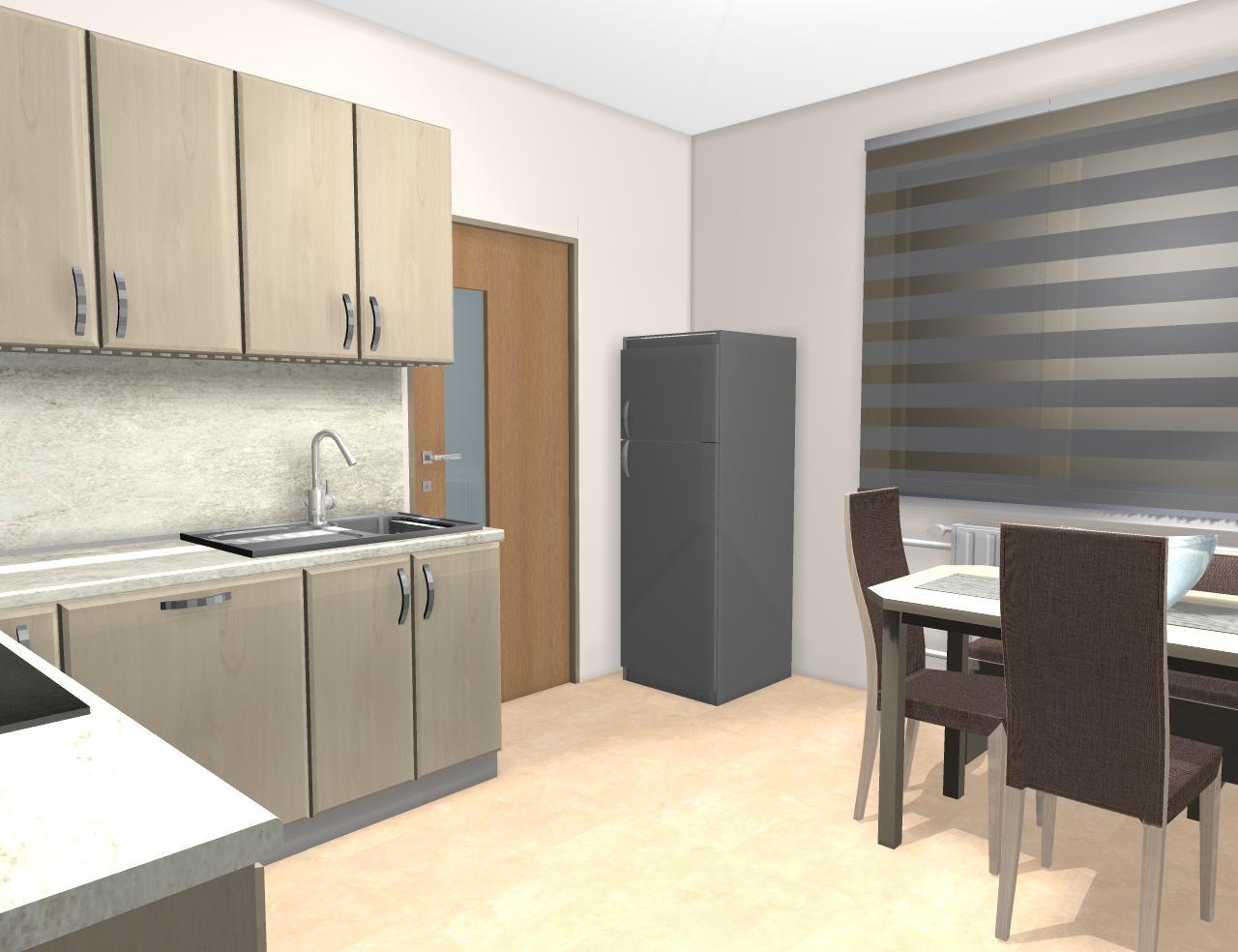 Grafické návrhy kuchynských liniek 2019 - Grafický návrh kuchynskej linky do rodinného domu - obr.10