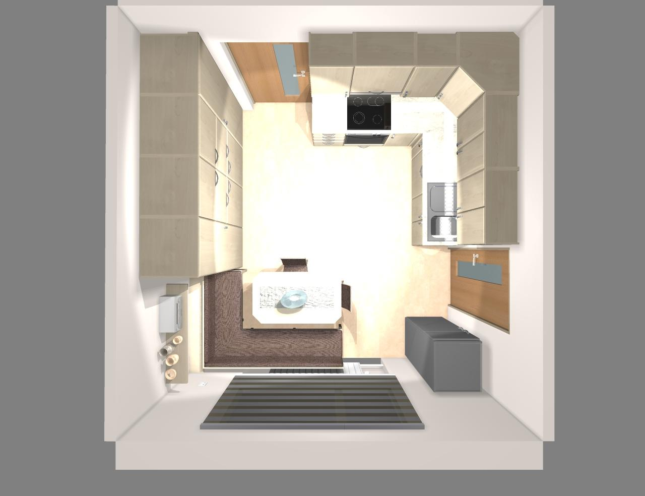Grafické návrhy kuchynských liniek 2019 - Grafický návrh kuchynskej linky do rodinného domu - obr.11