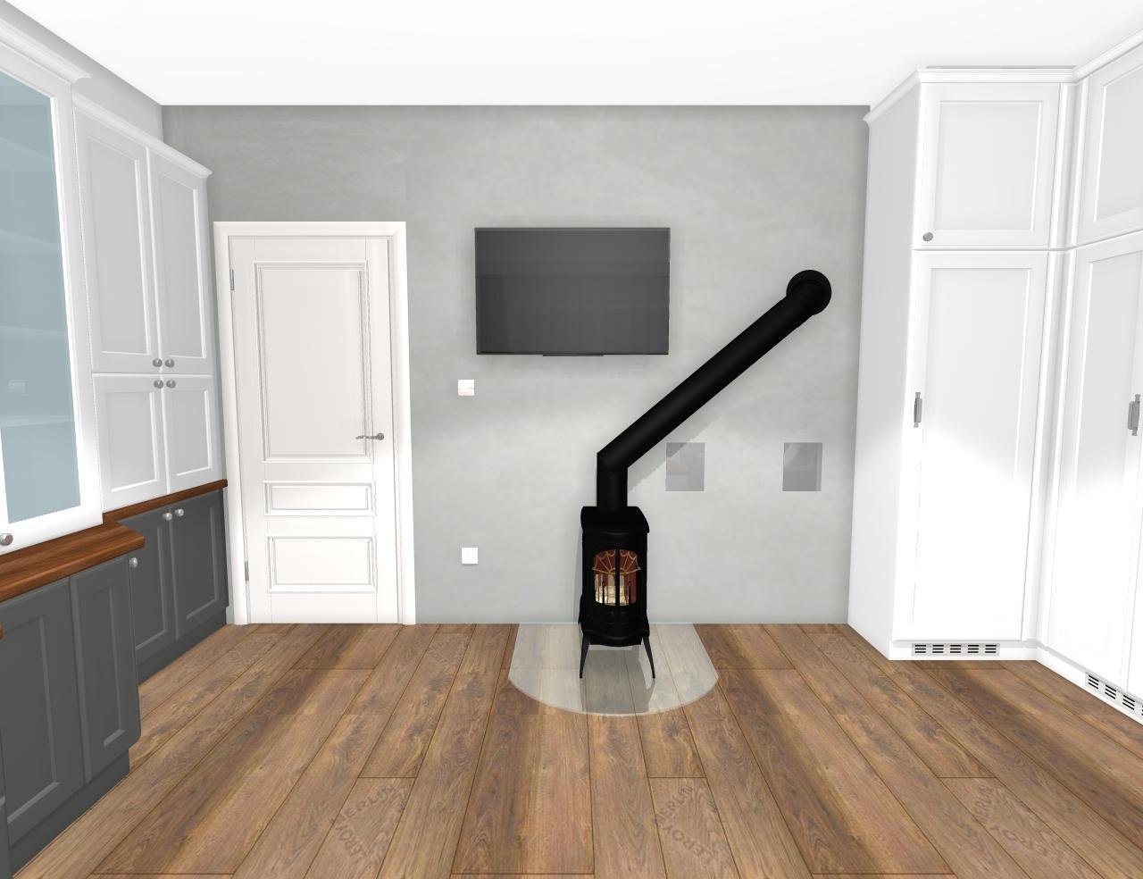 Grafické návrhy interiér 2019 - Grafický návrh pracovne do rodinného domu vo vidieckom štýle - obr.9