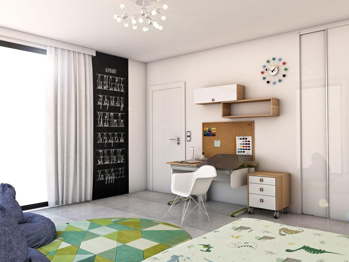 Grafické návrhy interiér 2019 - Grafický návrh detskej izby v rodinnom dome - obr.1