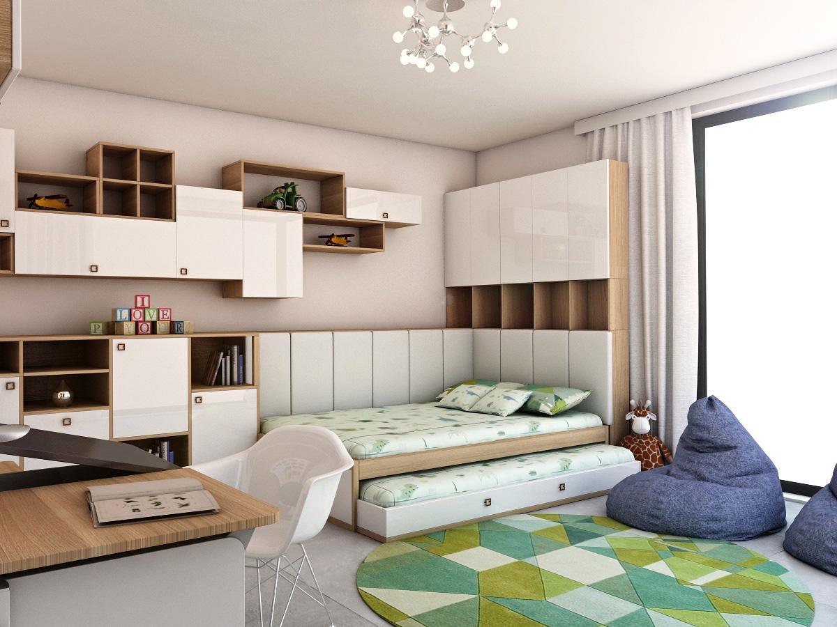Grafické návrhy interiér 2019 - Grafický návrh detskej izby v rodinnom dome - obr.2
