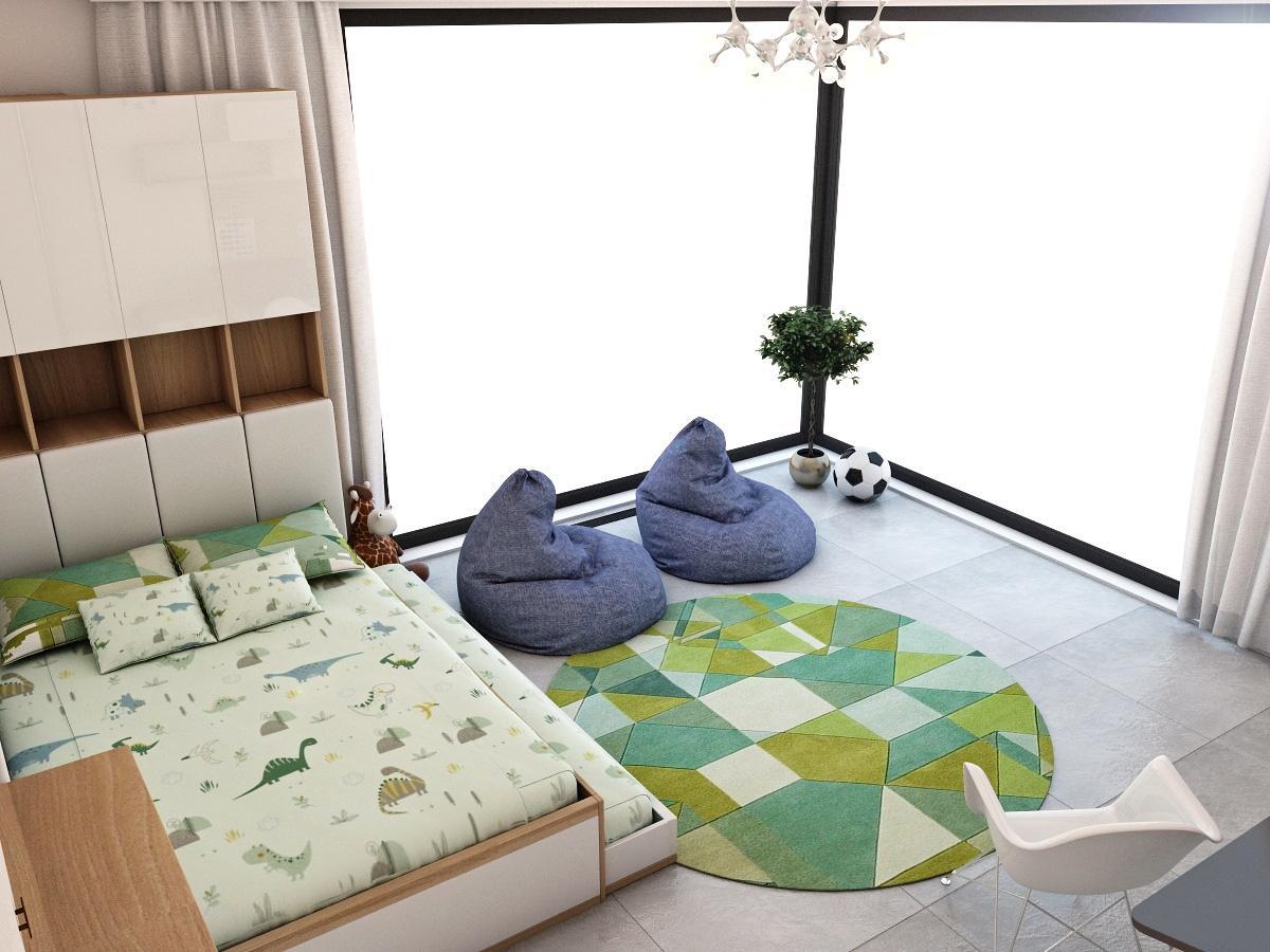 Grafické návrhy interiér 2019 - Grafický návrh detskej izby v rodinnom dome - obr.4
