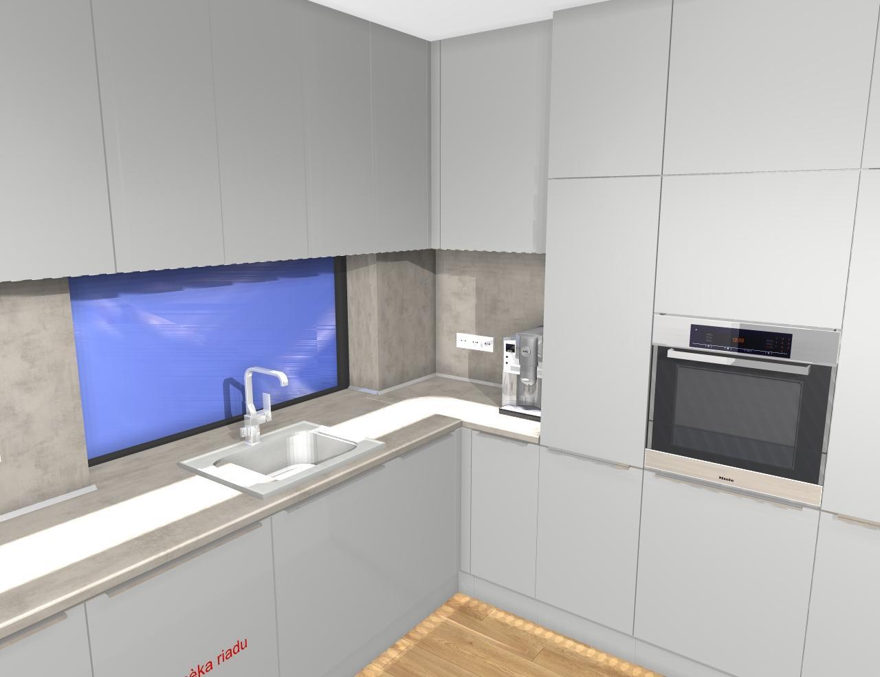 Grafické návrhy kuchynských liniek 2019 - Grafický návrh kuchynskej linky do RD pri Prahe - obr.7