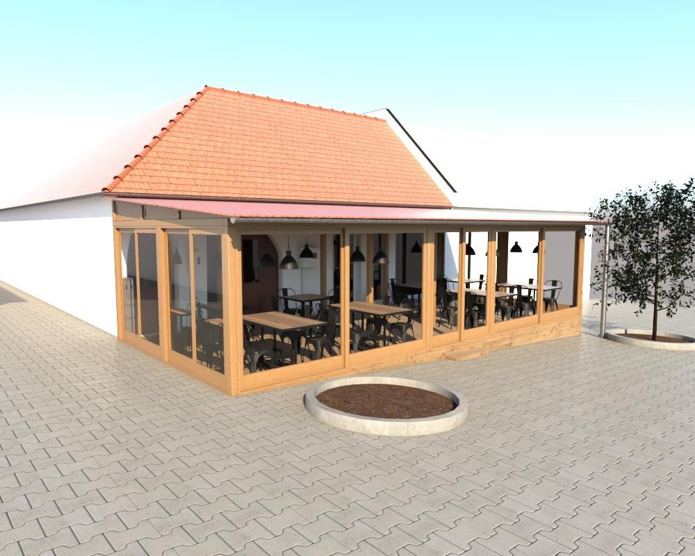 Grafické návrhy interiér 2019 - Grafický návrh terasy - obr.1