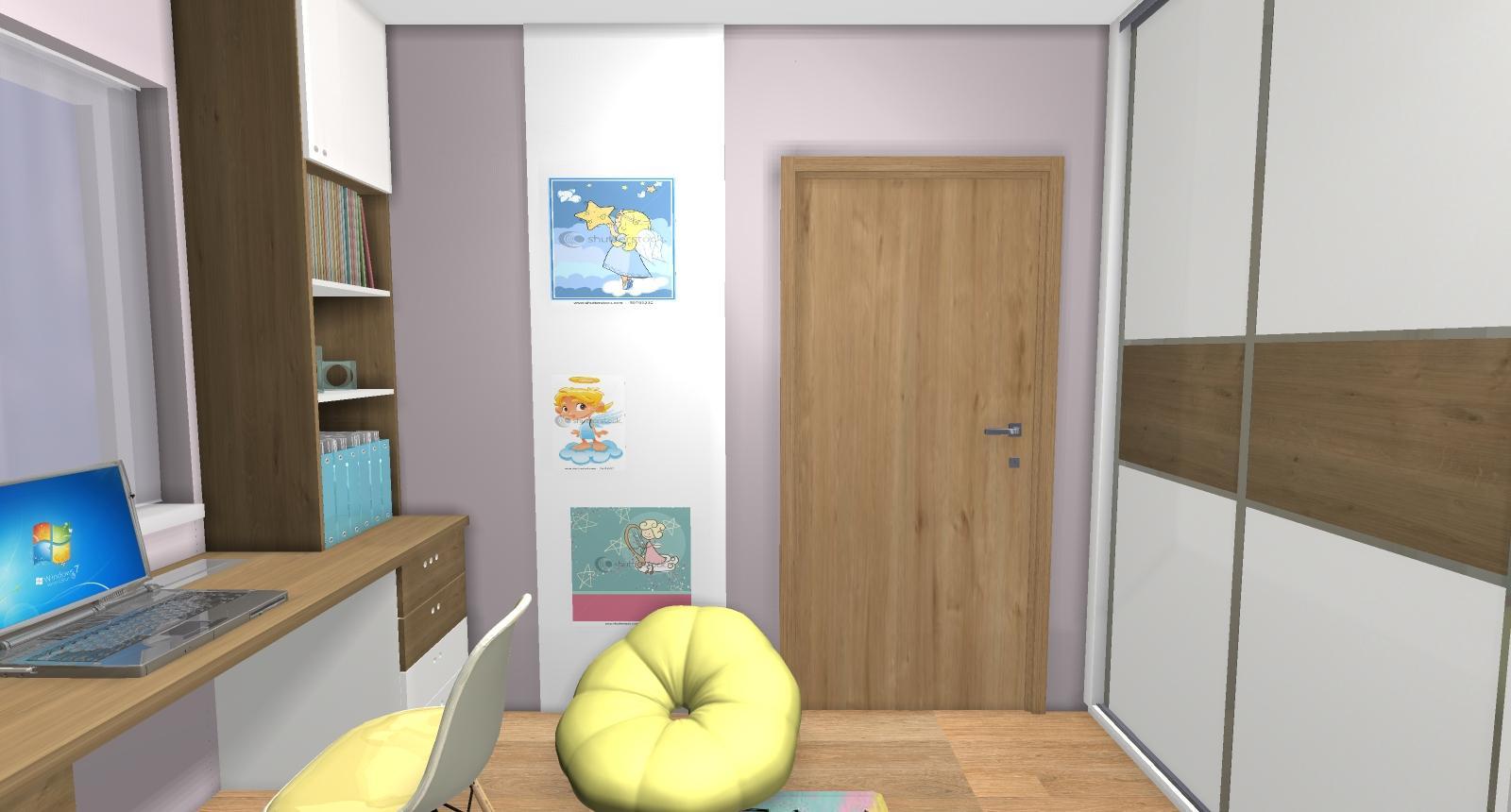 Grafické návrhy interiér 2019 - Grafický návrh detskej izby pre dve dievčatká - verzia 2 - obr.10